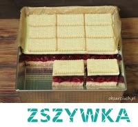 Kanapka wiśniowa Ciasto na herbatnikach z wiśniami, galaretką i masą jogurtową, znakomicie sprawdzi się w upalne dni