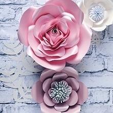 Kwiaty na ścianę, duże kwiaty na ścianę, kwiaty z papieru, papierowe kwiaty, ścianka kwiatowa na ślub, wesele, dekoracje na chrzest święty, dekoracje na komunię świętą, dekoracj...