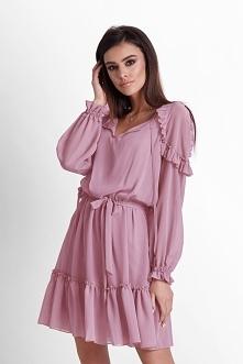 Szyfonowa sukienka Felicia  idealna na przyjęcia okolicznościowe  ivon-sklep....