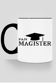 Kubek Pan Magister prezent na obronę pracy magisterskiej