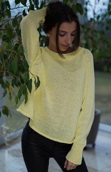 SUE Lili luźny, żółty sweter
