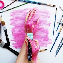 Dzisiaj na różowo! :)  Ręcz...
