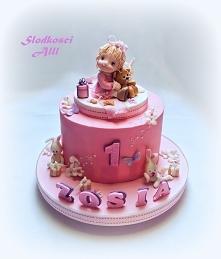 Tort na roczek dla dziewczynki