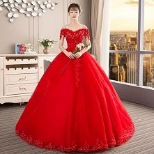 Piękne Czerwone Suknie Ślub...