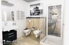 Mazurek II to projekt niedużego, nowoczesnego i wygodnego domu jednorodzinnego. Projekt został wykonany ze szczególnym uwzględnieniem walorów ekonomicznych... Widok łazienki na ...