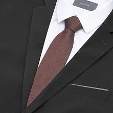 Jedwabny krawat - Brązowy