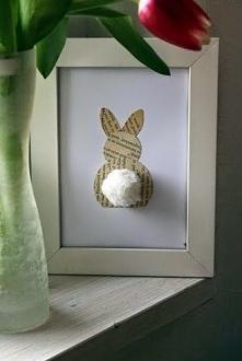 Dekoracja z króliczkiem.