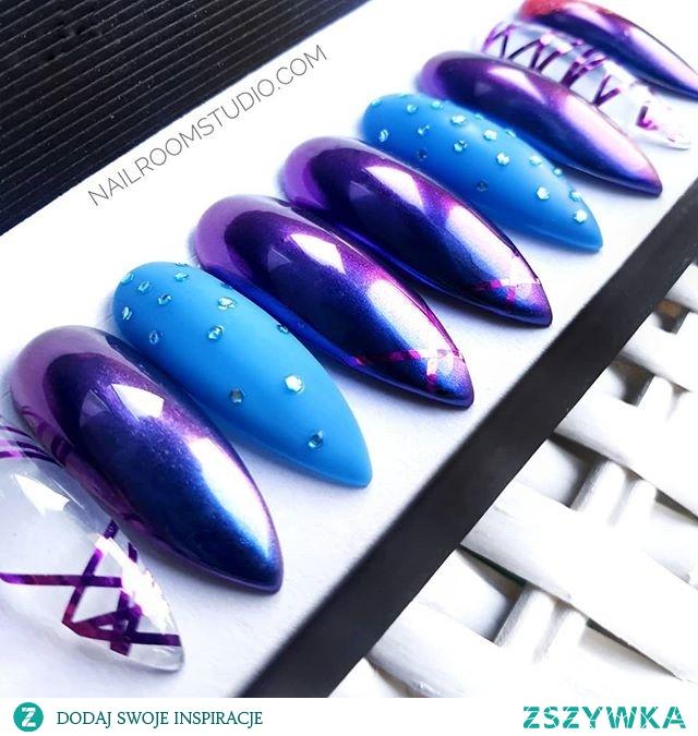 paznokcie do samodzielnej aplikacji sklep online dostępne również w Polsce i wysyłka na cały świat. Love the chameleon gloss, it's amazing! What do you think about nails like this? Are they fashionable?