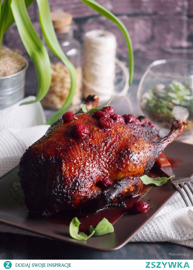 Kaczka w sosie wiśniowym / Duck with cherry sauce