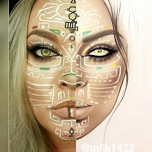 ⠀ A dzisiaj makijaż artystyczny. Niestety oczy musialam poprawić w programie