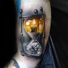 beauty 3d hourglass tattoo