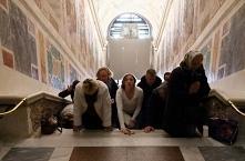 Odsłonięto święte schody, po których miał iść Jezus, udając się na śmierć. kl...