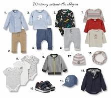 zestaw ubrań na wiosnę dla chłopca w wieku 1+