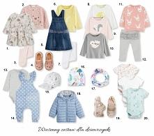 wiosenny zestaw ubrań dla dziewczynki w wieku 1+