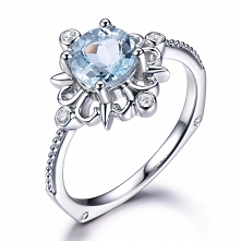Filigree Aquamarine engagem...