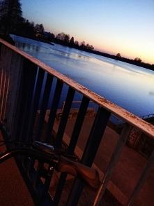 Rowerem i zachodzie słońca :)