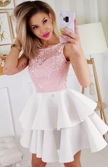 Bicotone piankowa sukienka ...