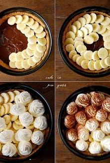 Tarta z bananami i masą kajmakową
