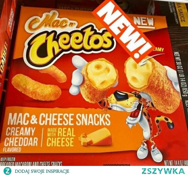 a to nowość z ameryki czyli jak zawsze tłusto i jeszcze tłuściej xD chrupki cheetos nadziewane sosem o smaku makaronu z serem!