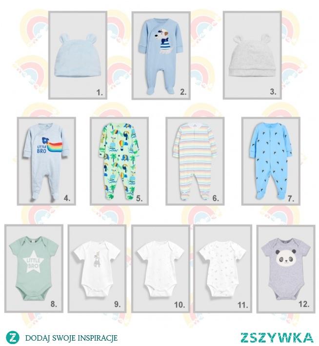 wyprawka dla noworodka urodzonego wiosną - chłopiec, zestaw do snu