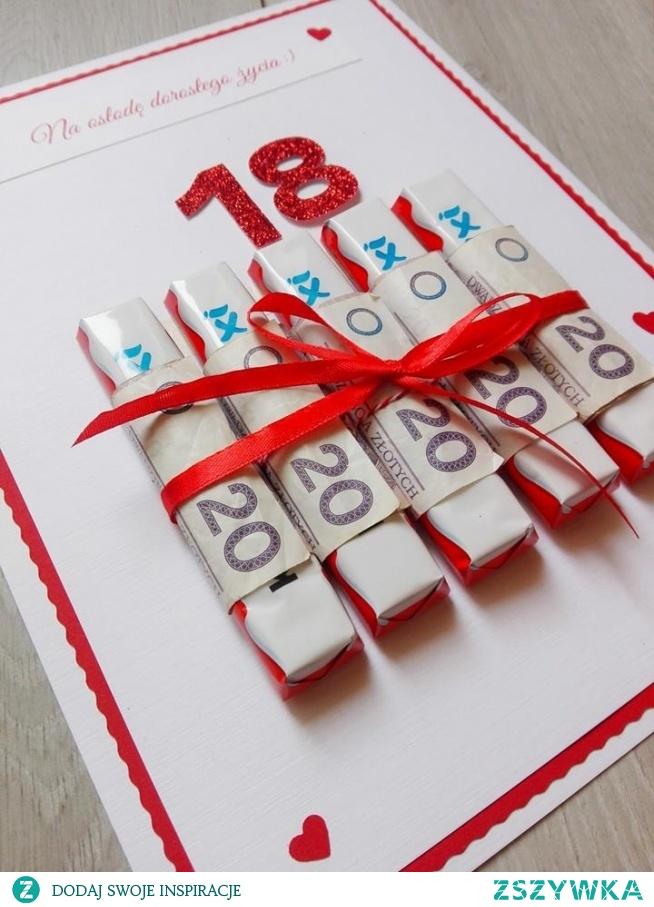 słodki prezent na osiemnastkę :)