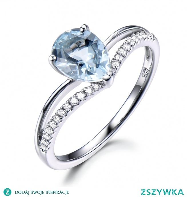 curved Aquamarine ring