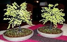 Drzewa z drutu i koralików