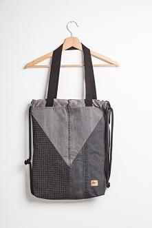 Patchworkowy torbo plecak z marynarek