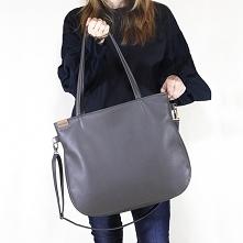 Pacco bag torebka szara na zamek codzienna