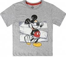 Disney Koszulka Chłopięca Mickey Mouse 98 Szary