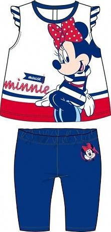 Disney By Arnetta Letni Komplet Dziewczęcy Minnie 86 Biały