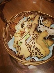 Kruche ciasteczka zajączki. :)