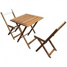 Meble Ogrodowe Stolik I Krzesła Poduszki Drewniane