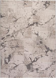 Dywan Bolero w kleksy srebrny 120 x 170 cm