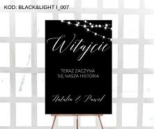 Pionowa Tablica Powitalna BLACK &LIGHT I