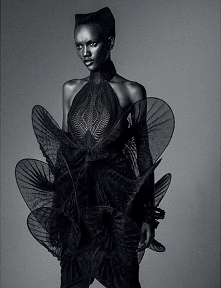 Herieth Paul wearing the Iris van HerpenMimicry dress for SLimi Magazine shot by Frederico Martins. Styled by David Duval Hair by Pierre Saint Sever Makeup by David Lenhardt