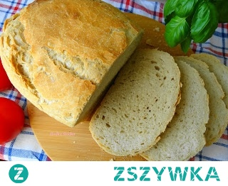 Chleb z gara. Prosty i tani przepis na pyszny chlebek z chrupiącą skórką,zrobi go każdy.Ciasto najlepiej sobie przygotować wieczorem,wstawić do lodówki,a rano upiec.