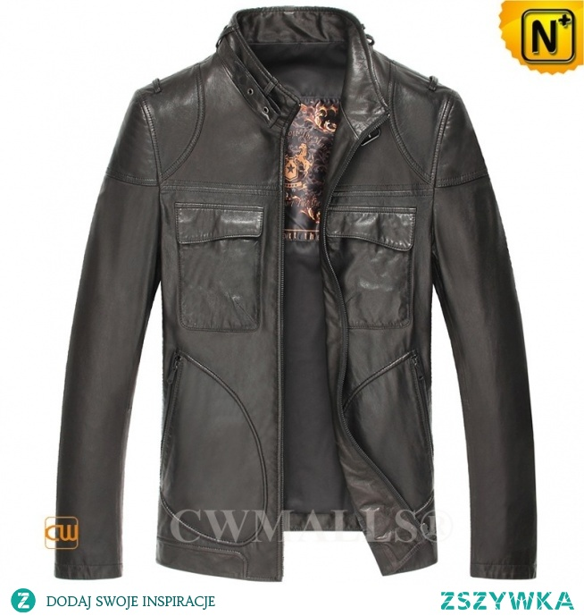 Haute Couture | Men Motorcycle Leather Jacket CW806047 | CWMALLS.COM