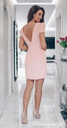 Różowa sukienka na chrzciny...