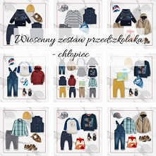 zestaw ubrań na wiosnę dla chłopca w wieku przedszkolnym