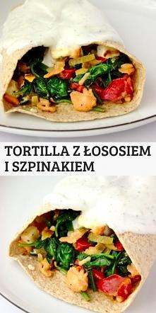 Dietetyczna tortilla z łoso...