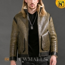 Custom Father's Day Gift | Men Vintage Sheepskin Leather Jacket CW808530...
