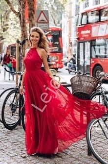 64960be78e Długa zwiewna sukienka emo Alissa. Czerwony zwiewny szyfon doskonale się  ukła.