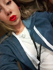 #red #redlips #blondehair #...