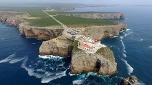 Portugalia. Latarnia morska w Cabo de São Vicente