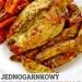 Kurczak w parmezanie z ziemniakami i marchewką z piekarnika.