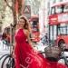 Długa zwiewna sukienka emo Alissa. Czerwony zwiewny szyfon doskonale się układa i wspaniale wygląda lejdi.pl