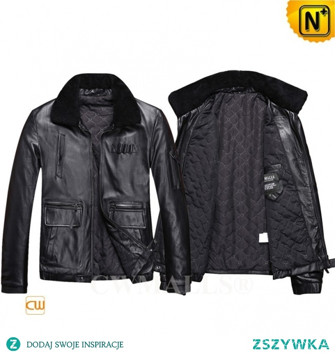 Father's Day Gifts | Men Leather Flight Bomber Jacket CW816105 | CWMALLS.COM