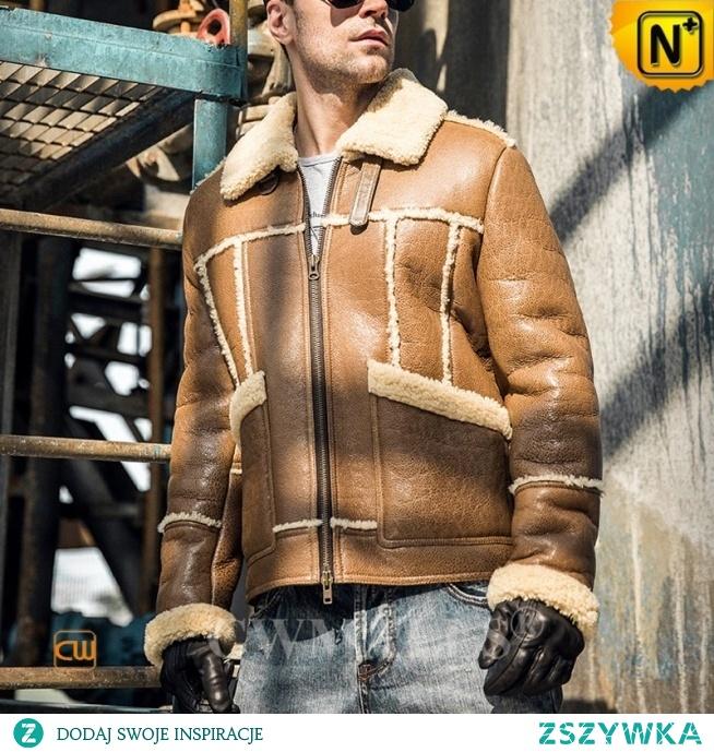 Custom Father's Day Gift   Men Retro Shearling Jacket CW808385   CWMALLS.COM