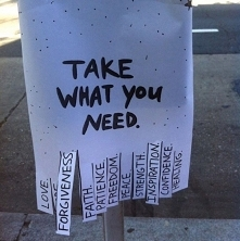 Take what you need